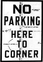 Classic No Parking Sign from the 1930s