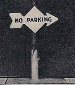 Classic Parking sign from the 1920s