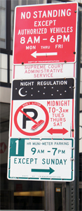 Parking Rules Signs