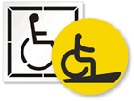 Handicap Stencils and Pavement Signs