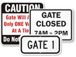 All Gate Signs