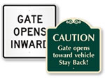 Gate Opens Inward/Outward