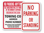 More State Parking Signs