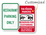 Restaurant Parking Signs