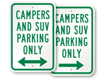 SUV Parking Signs