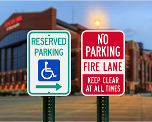 Indiana Parking Signs, Fire Lane Signs and Other Regulated Signs