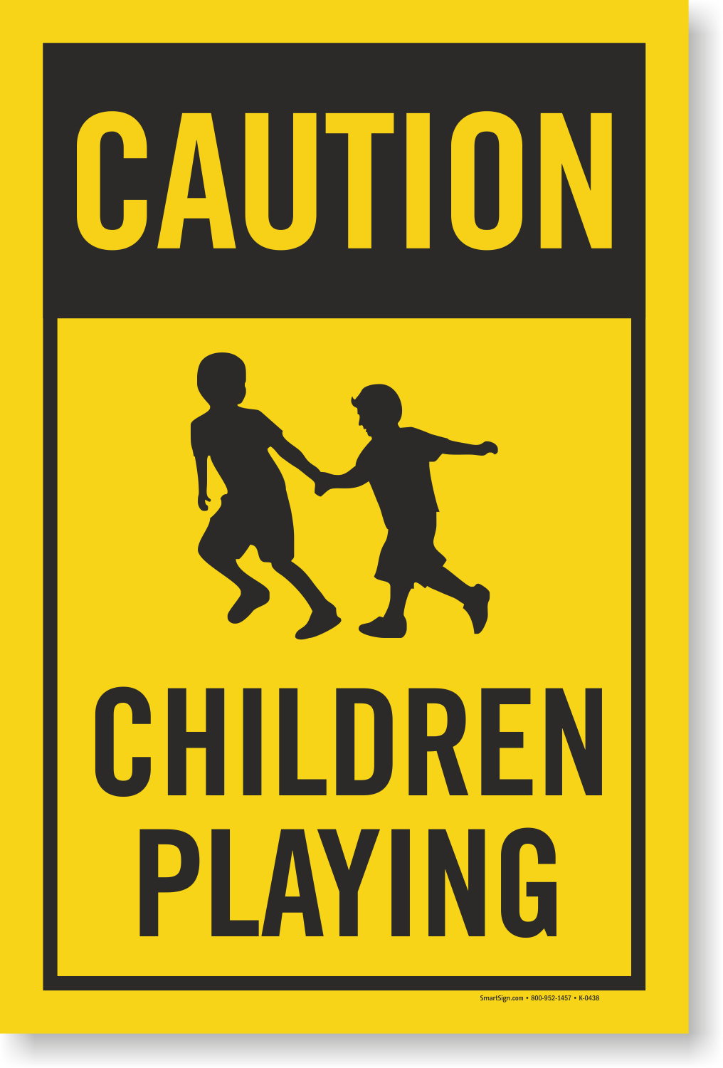 Children Playing Caution Sign Insert For Kit , SKU - K-0438