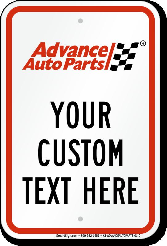 Advance Auto Parts Parking Signs
