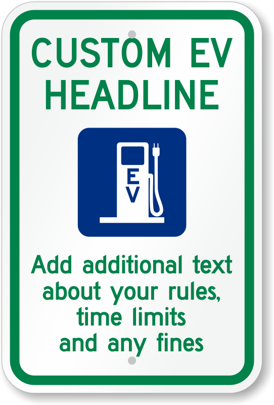 electric car parking only sign pdf