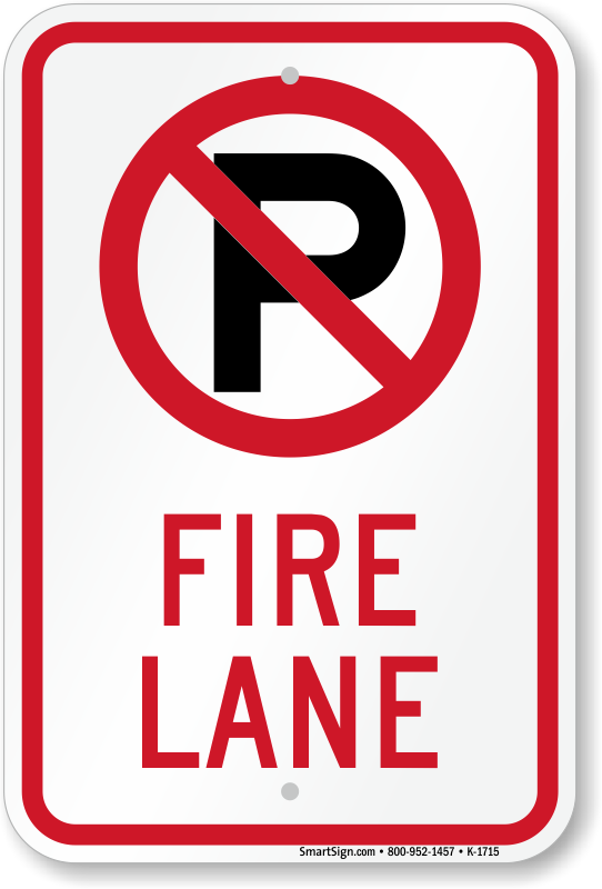 Official Fire Lane Signs Myparkingsign