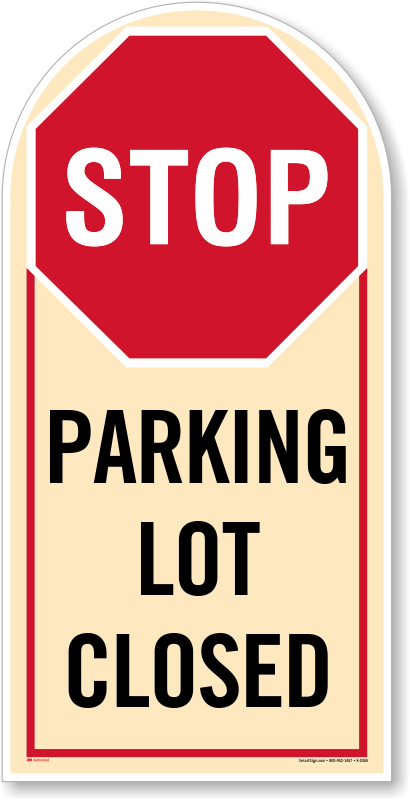 Parking Lot Full Signs Free Shipping From Myparkingsign