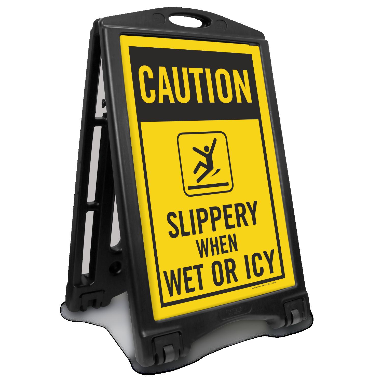 slippery when wet sign memes