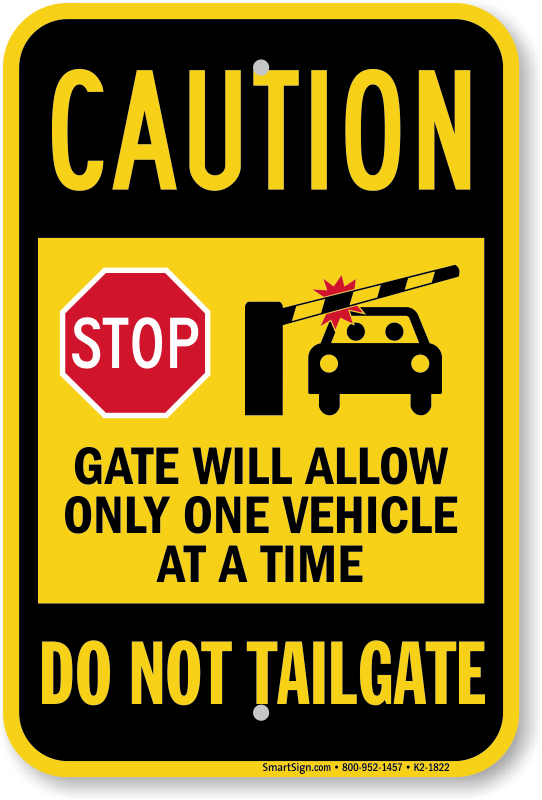 Do Not Tailgate Signs