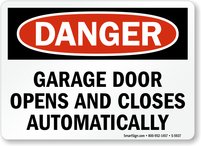 gate warning signs automatic gate signs prevent accidents