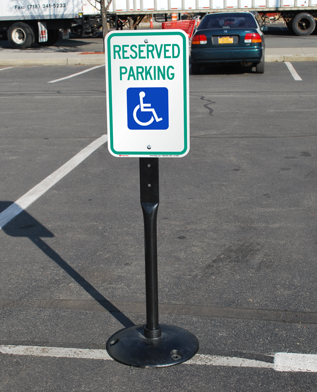 Reserved Parking Sign And Post Kit Sku K 1433 Kit