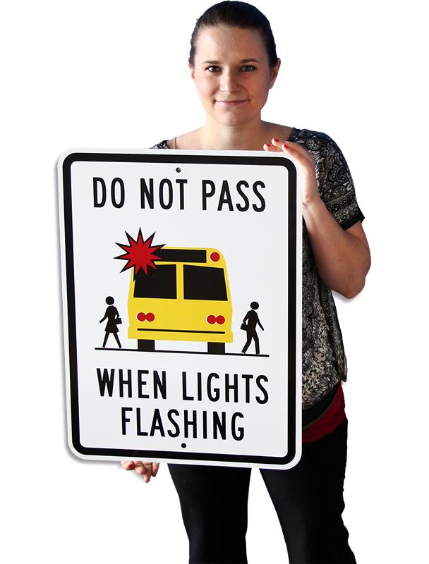 do not pass when lights flashing sign sku k4419