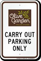 olive garden parking signs