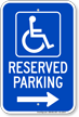 Michigan Bidirectional Reserved Handicapped Parking Sign