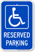 Michigan Reserved Handicapped Parking Sign