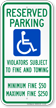 Pennsylvania Reserved Handicapped Parking Sign