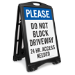 Do Not Block Driveway Portable Sidewalk Sign