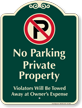 No Parking, Private Property Signature Sign
