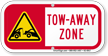 Tow-Away Zone Supplemental Parking Sign
