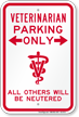 Veterinarian Parking Only, Funny Reserved Parking Sign