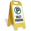 VALET PARKING Free-Standing Sign
