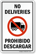 No Deliveries, Prohibido Descargar Sign