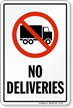 No Deliveries Truck Symbol Sign