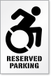 Reserved Parking Stencil With Updated Accessible Symbol