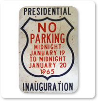 1960 Parking Signs