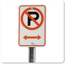 1970 Parking Signs