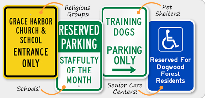 Parking Signs for Non-Profits