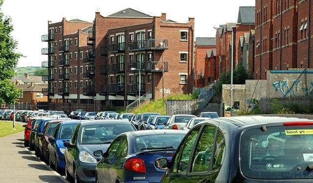 crowded street parking
