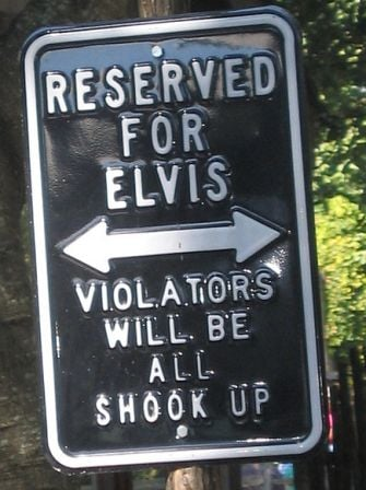 Elvis parking sign