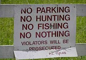 No Nothing parking sign