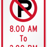 No Parking Signs Help in Keeping Your City Clean!