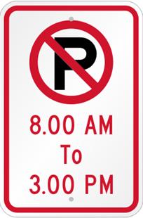No Parking Time Limit Sign