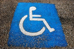 disabled parking pavement marking