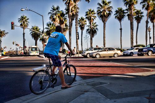 Bicyclist in Santa Barbara