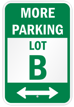 Custom parking lot signage