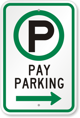 Directional Meter Sign from MyParkingSign.com
