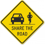 Share the Road Bike and Car Image