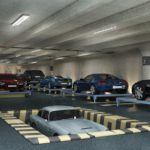 A robotic parking garage adds even greater curb appeal to luxury homes