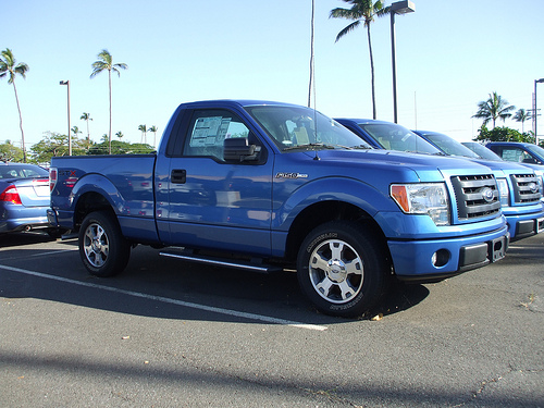 Ford F-150 in a parking lot
