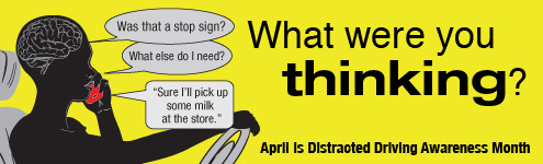 Win a sign! Send us your best distracted driving slogan