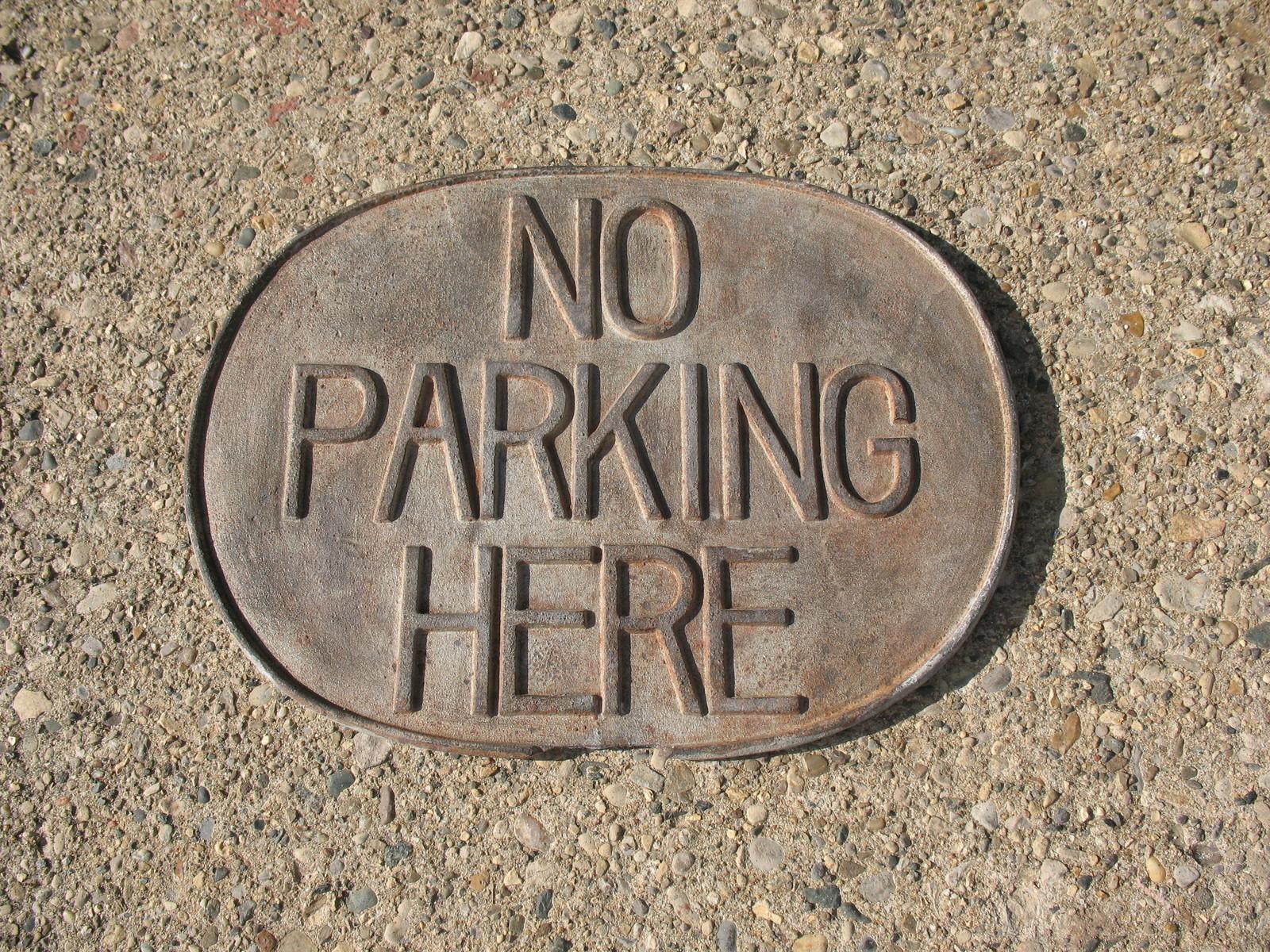 no parking here vintage sign