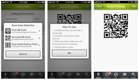 Parkmobile parking app
